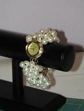 Stunning Rare Vintage Chunky Bonetto Lucite & Faux Pearl Candy Watch