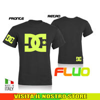 T SHIRT MAGLIA DC SHOES MONSTER MOTO AUTO BIKER IDEA REGALO FLUO UOMO DONNA