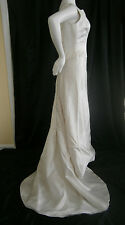 MANALE NEW YORK WEDDING GOWN SIZE 10 SILK COVERED BUTTONS PRINCESS USA