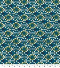 Beatles Hey Jude Cotton Fabric, Lyrics by Lennon McCartney - Blue