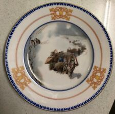 Antique 19c Russian Porcelain Plate Painting After Karazin by Kornilov Factory