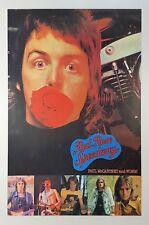Beatles Paul McCartney 1973 Wings Red Rose Speedway UK Promotional Poster