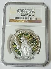 2013  CFA Francs Red Colobus Monkey Proof Silver Coin NGC PF 70 POP 2