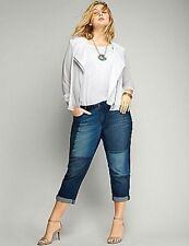 Lane Bryant Women's Patchwork Denim Capri Jeans Size 26