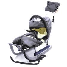 Schlitten Piccolino Komfort Grafit Grau Kinderschlitten Babyschlitten Fußsack
