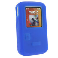 Blue Silicone Skin Case for Sandisk Sansa Clip Zip 8GB MP3 Player Cover Holder