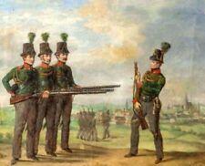 Ölgemälde Bürgerwehr um 1840