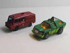 VINTAGE Hard To Find Matchbox #57 Red LAND ROVER & #59  Green PLANET SCOUT