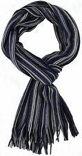 Schal Strickschal Streifen modisch blau weiß 50% Wolle (Merino) 50% Acryl R635