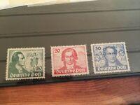 Germany Bundespost Berlin Goethe stamp set mint modern reprint spacefillers