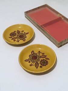Vintage Retro Palissy Royal Worcester Trinket Pin Dishes Boxed