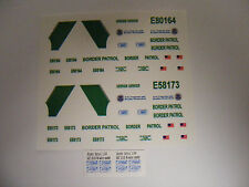 US Border Patrol Police 1:64 Water Slide Decals Fits many different vehicles