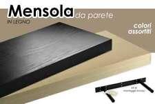 Mensola da Parete Noce in Legno Kit reggi mensole Pensili Muro Moderne 40x25cm