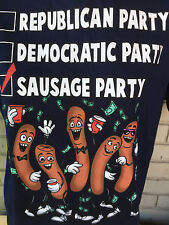 Sausage Party Movie Seth Rogan Promo Election Ballot Large T-Shirt