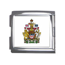 New Canada Canadian Coat of arms Mega Link Italian Charm 18mm FREE Shipping