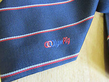 OLYMPIC Rings OLYMPIG Logo Tie - SEE PICTURES