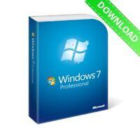 Genuine Microsoft Windows 7 Pro Professional 32/64bit Key and Download