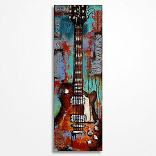 Music art, Original textured guitar painting, Guitar art on canvas MADE TO ORDER