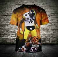 Pittsburgh Steelers Men T-Shirt Short Sleeve Fan's Gift Tee Sports Top Shirts