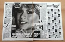 SAMANTHA FOX 'close up' ARTICLE / clipping from Joepie magazine (Belgium)