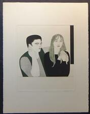 """WILL/WILLIAM BARNET """"THE YOUNG COUPLE"""" SIGNED/NUMBERED COLOR ETCHING & AQUATINT"""