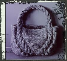 Lovely Bag Knitting Pattern to knit in Chunky wool - Stylish & Fun