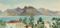 Set of Five Mid 20th Century Watercolours - Continental Scenes