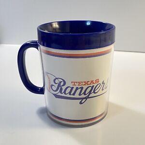 Vintage 1986 Texas Rangers Baseball Plastic Cup Mug 80s Rare MLB USA Official