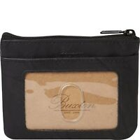 New Buxton Heiress Pik-Me-Up High Quality Leather I.D. Coin / Card Case Purse