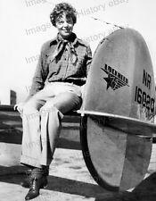 8x10 Print Amelia Earhart Poses Lockheed Electra 10E Special #AE34