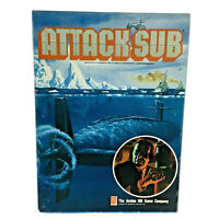 Avalon Hill Modern Attack Sub War Game Mostly UNPUNCHED Complete VG+