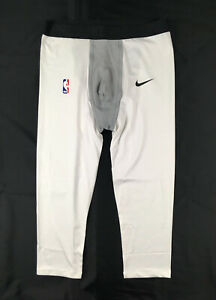 Nike Compression Pants Men's White Poly 3/4 Length NEW Multiple Sizes
