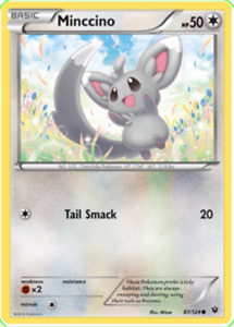 Pokemon TCG XY Fates Collide Minccino 87/124 - Brand New Genuine