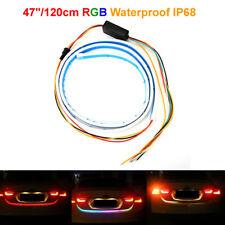 "47""RGB Car Rear Trunk Strip Light Tailgate Brake Drive Turn Signal Flow LED Lamp"