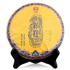 Menghai Dayi Dragon Pillar Yuan Cha Puer Tea Cake 2017 357g Ripe