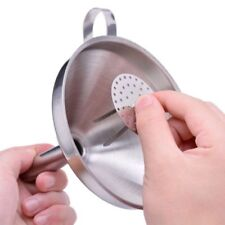"""STAINLESS STEEL 18/10 Funnel w/Removable Strainer - 5"""" Diameter - Great for Jam"""