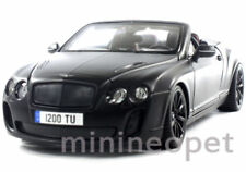 BBURAGO 11035 2013 BENTLEY CONTINENTAL SUPERSPORTS CONVERTIBLE 1/18 MATTE BLACK