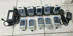 Lot of 10 Motorola Symbol MC75A0 Wireless Laser Barcode Scanners with Cradles