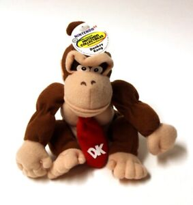 Vintage 1997 Nintendo 64 Donkey Kong Plush Beanbag with Tags 7 Inch