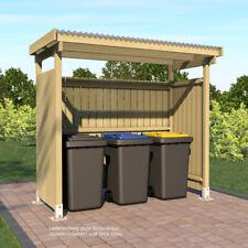 Unterstand für Mülltonnen oder Gartengeräte und Kaminholz 2.50x1.25 m