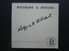 Wolfgang A. Ritschel The Other Life Das Andere Leben 1999 pb Art Book