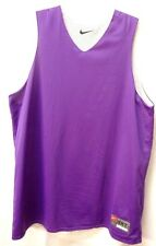 NIKE TEAM Basketball Jersey Mens 2XLT REVERSIBLE Mesh LINED Purple White NICE!