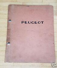Peugeot 403 Automatische Kupplung JAEGER - Werkstattunterlagen ca. 1959