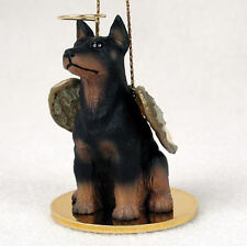 Doberman Pinscher Dog Figurine Angel Statue Black