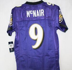 Youth Kids Reebok NFL Baltimore Ravens Steve McNair #9 Purple Stitched Jersey