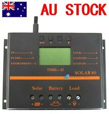 80A LCD Solar Battery Regulator Charge Discharge Controller 12V With USB NY