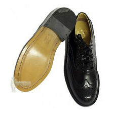 MEN'S BLACK LEATHER GHILLIE BROGUES FOR KILTS - LEATHER SOLES - SIZE UK 7