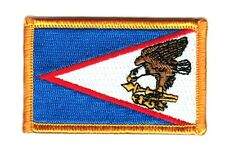 Toppe Toppa PATCH Samoa Americane Bandiera 7x4.5cm USA ricamata termoadesivo