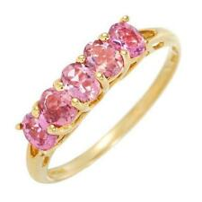 Exceptional, Pink Tourmaline Ring, 0.85ctw, SZ US 6, In 14K Yellow Gold