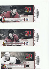 OTTAWA SENATORS VS WINNIPEG JETS FULL TICKET STUB JASON SPEZZA 1/16/11